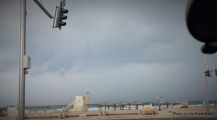 לפני הסערה. צילום סלולאר: יובל אראל