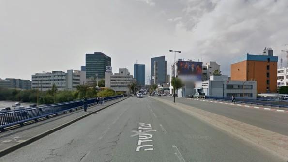 הגדה המערבית של תל אביב. צילום: גוגל מפות