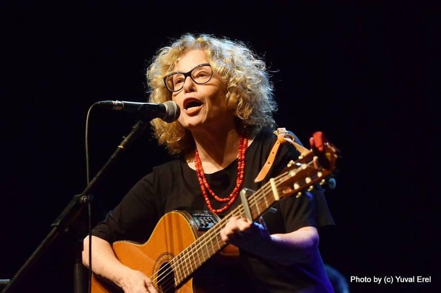 חוה אלברשטיין בפסטיבל המוסיקה. צילום: יובל אראל