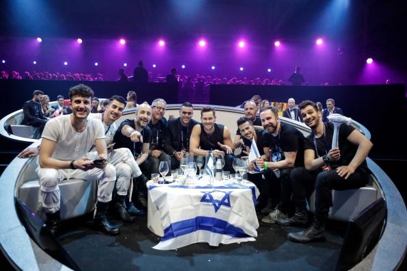 משלחת ישראל אירוויזיון 2017 ממתינים לתוצאות. צילום רשמי איגוד השידור האירופאי