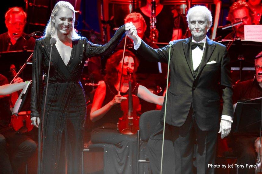 חוזה קראררס ודניאלה לוגסי בפסטיבל מדיטרנה.צילום: טוני פיין