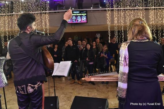 הסלון של אלייב, פותחים את הפסטיבל. צילום יובל אראל