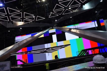 חשיפה ראשונית - בימת האירוויזיון בתל אביב. צילום יובל אראל